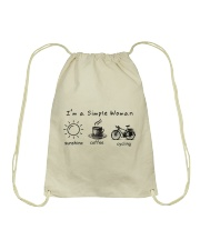 Cycle - I Am A Simple Woman Drawstring Bag thumbnail