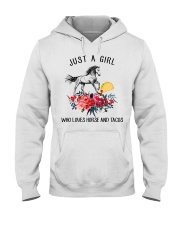 Horse - Just A Girl Who Loves Horse And Tacos Hooded Sweatshirt thumbnail
