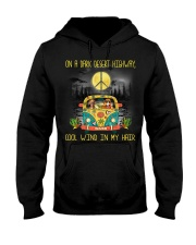 Dachshund - On A Dark Desert Highway Hooded Sweatshirt thumbnail