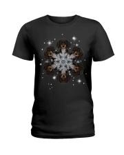 Dachshund  Snow Head Ladies T-Shirt thumbnail