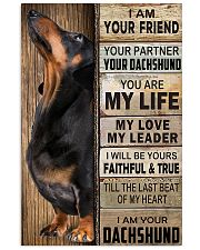 Dachshund Black I Am Your Friend Poster 16x24 Poster front