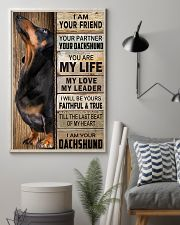 Dachshund Black I Am Your Friend Poster 16x24 Poster lifestyle-poster-1