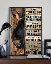 Dachshund Black I Am Your Friend Poster 16x24 Poster lifestyle-poster-2
