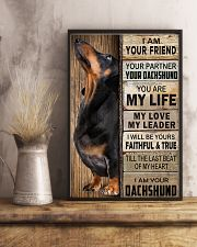 Dachshund Black I Am Your Friend Poster 16x24 Poster lifestyle-poster-3