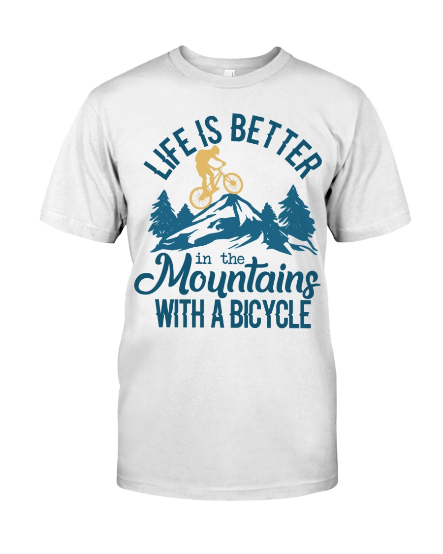 Cycle - Life Is Better In The Mountains Classic T-Shirt