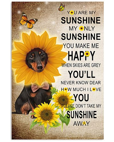 Dachshund - Sunshine - Poster