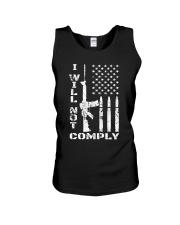 I WILL NOT COMPLY Gun Ar-15  Unisex Tank thumbnail