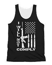 I WILL NOT COMPLY Gun Ar-15  All-over Unisex Tank thumbnail