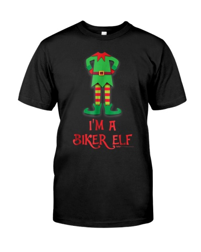Im A Biker Elf Costume Funny Christmas T Shirt