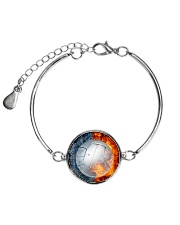 volleyball Necklace - H01 Metallic Circle Bracelet tile