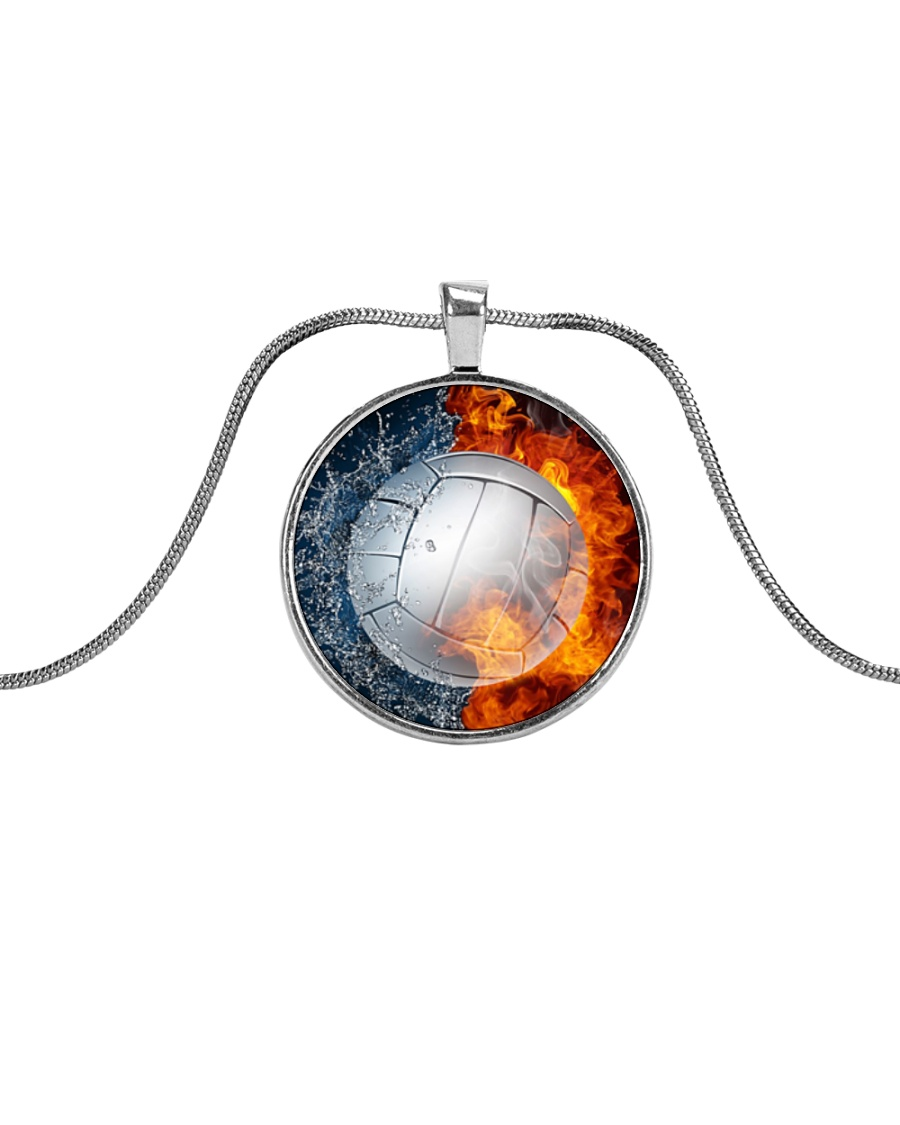 volleyball Necklace - H01 Metallic Circle Necklace