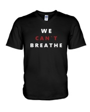 Black Lives Matter Tee Freedom We Can't Breathe E V-Neck T-Shirt thumbnail