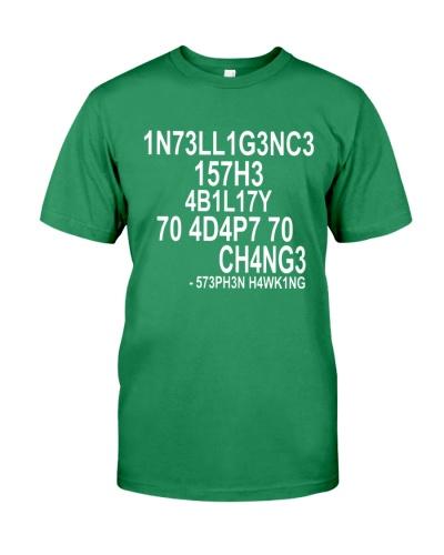 black intelligence t shirt Stephen Hawking T-Shirt