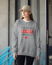 fix your heart america tshirt fix your heart ameri Crewneck Sweatshirt apparel-crewneck-sweatshirt-lifestyle-front-12