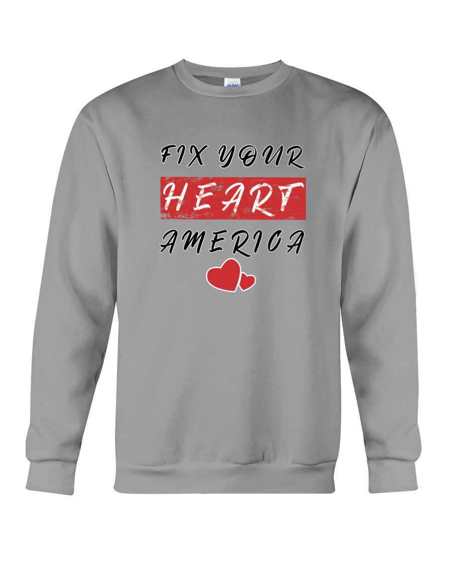 fix your heart america tshirt fix your heart ameri Crewneck Sweatshirt