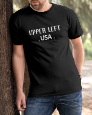upper left usa t shirt upper left usa shirt upper Classic T-Shirt apparel-classic-tshirt-lifestyle-front-51