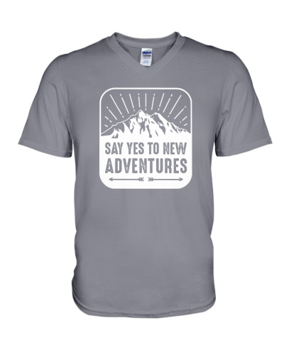 say yes to new adventures tshirt Adventure T-Shirt