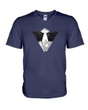 space ship V-Neck T-Shirt thumbnail