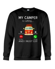 My Camper is Calling VD14 Crewneck Sweatshirt thumbnail