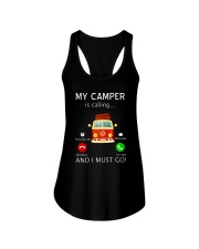 My Camper is Calling VD14 Ladies Flowy Tank thumbnail