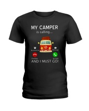 My Camper is Calling VD14 Ladies T-Shirt thumbnail