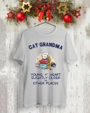 Cat Grandma Young At Heart NT29 Classic T-Shirt lifestyle-holiday-crewneck-front-2