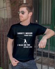 Sorry i missed your call-QT00 Classic T-Shirt lifestyle-mens-crewneck-front-2