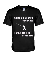 Sorry i missed your call-QT00 V-Neck T-Shirt thumbnail