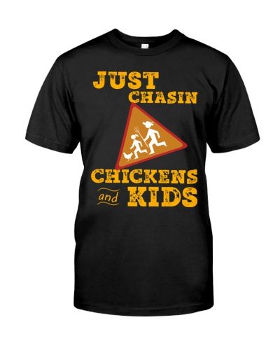 Just Chasin Chickens And Kids VA95