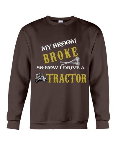 My broom broke so now I drive a tractor TU94