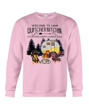 Welcome to Camp Quitcherbitchin VD14 Crewneck Sweatshirt thumbnail
