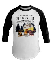 Welcome to Camp Quitcherbitchin VD14 Baseball Tee front