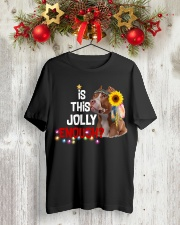 Is this jolly enough Pitbull lover VD14 Classic T-Shirt lifestyle-holiday-crewneck-front-2