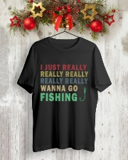 Wanna go fishing QQ26 Classic T-Shirt lifestyle-holiday-crewneck-front-2