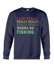 Wanna go fishing QQ26 Crewneck Sweatshirt thumbnail