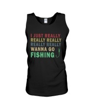 Wanna go fishing QQ26 Unisex Tank thumbnail