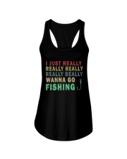 Wanna go fishing QQ26 Ladies Flowy Tank thumbnail