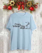Crazy wiener dog mom EL11 Classic T-Shirt lifestyle-holiday-crewneck-front-2