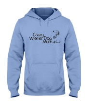 Crazy wiener dog mom EL11 Hooded Sweatshirt thumbnail
