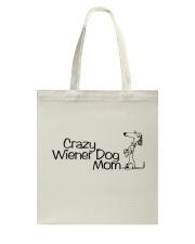 Crazy wiener dog mom EL11 Tote Bag thumbnail