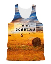I Love The Peace And Quiet In The Country HV9 All-over Unisex Tank front