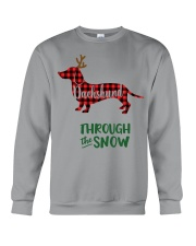 Dachshund Through The Snow HT10 Crewneck Sweatshirt thumbnail