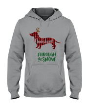 Dachshund Through The Snow HT10 Hooded Sweatshirt thumbnail