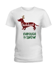 Dachshund Through The Snow HT10 Ladies T-Shirt front