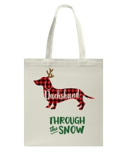 Dachshund Through The Snow HT10 Tote Bag thumbnail