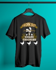 I WORK OUT JUST KIDDING I CHASE CHICKENS VA95 Classic T-Shirt lifestyle-mens-crewneck-front-3