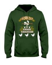 I WORK OUT JUST KIDDING I CHASE CHICKENS VA95 Hooded Sweatshirt thumbnail
