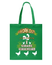 I WORK OUT JUST KIDDING I CHASE CHICKENS VA95 Tote Bag thumbnail