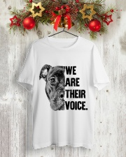 We are their voice TM99 Classic T-Shirt lifestyle-holiday-crewneck-front-2