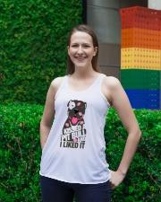 Kiss a pitbull TM99 Ladies Flowy Tank lifestyle-bellaflowy-tank-front-2